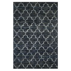 """Hand-knotted jute and wool rug with a Moroccan trellis motif. $556 5'6"""" x 8'6""""   Product: RugConstruction Material: Wool and jut..."""