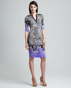 Etro Paisley Print Sheath Dress