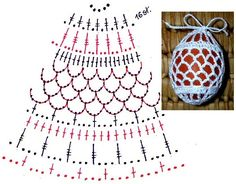 Crochet Box, Crochet Stars, Crochet Motif, Crochet Crafts, Crochet Projects, Easter Egg Pattern, Christmas Crochet Patterns, Holiday Crochet, Crochet Ornaments
