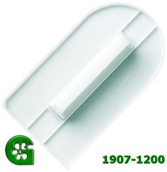 Wilton item number 1907-1200. Visit www.GalesWholesale.com for more information. Wilton - Easy-Glide Fondant Smoother. Essential tool for shaping and smoothing rolled fondant on your cake. Works great on top, edges and sides! Shapes fondant to sides of cake so that no puffed areas appear. Trim off excess with a sharp knife