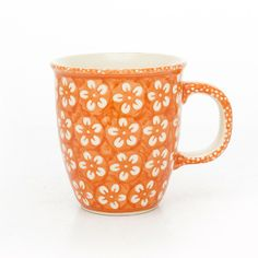 This is orange Polish pottery instead of traditional navy color, not bad at all, right?