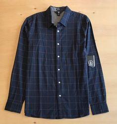 Volcom Men's Long Sleeve Button Up Shirt NWT  | eBay Denim Button Up, Button Up Shirts, Buttons, Shirt Dress, Long Sleeve, Sleeves, Mens Tops, Ebay, Clothes