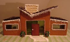 Modern Contemporary Christmas Gingerbread House