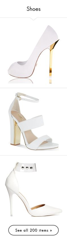"""Shoes"" by alejaborrayo ❤ liked on Polyvore featuring shoes, sandals, heels, high heels, sapatos, white, block heel sandals, white high heel shoes, white high heel sandals and vegan shoes"