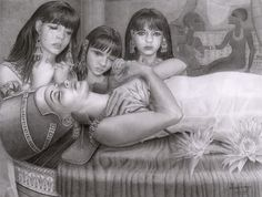 NEFERTITI DAUGHTERS | ... drawing depicting nefertiti and her daughters an imagined deathbed