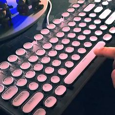 Tech Discover Finger dancing on the typewriter Inspired keyboard be like Study Room Decor Room Setup High Tech Gadgets Cool Gadgets Retro Typewriter Pc Gaming Setup Computer Set Kawaii Room Gamer Room Gaming Room Setup, Pc Setup, Cool Gaming Setups, Computer Gaming Room, Best Gaming Setup, Gamer Setup, Objet Wtf, Retro Typewriter, Led Stripes