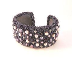 Cuff-Bracelet 'Purple Spot' by CarineCreations on Etsy