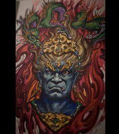 Chronic Ink Tattoo - Toronto Tattoo  Fudo mayoo painting done by Tony.