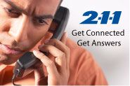 2-1-1 provides free and confidential information and referrals. Call 2-1-1 for help with food, housing, employment, health care, counseling and more.