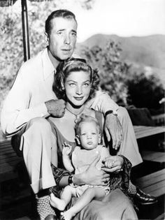 Humphrey Bogart and Lauren Bacall with their son Stephen