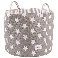 Minene Large Storage Basket with Grey Stars - star storage baskets, round storage baskets, large fabric storage basket - great for toy storage, kids storage and as a laundry hamper Minene http://www.amazon.co.uk/dp/B00PATK1PA/ref=cm_sw_r_pi_dp_2ITXwb1X27JDJ