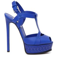 Casadei Platform High Heel Sandals (850 AUD) ❤ liked on Polyvore featuring shoes, sandals, blu, casadei, platform sandals, casadei shoes, platform shoes and heeled sandals