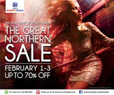 Climb the pinnacle of style at the Great Northern Sale this February 1 to only at SM City North EDSA! City North, Live Events, February 1, Cool Things To Buy, Let It Be, Sale Sale, Press Release, Giveaways, Philippines