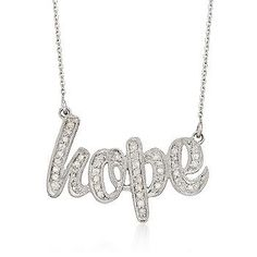Diamond Hope Necklace In Sterling Silver