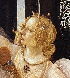 Botticelli-primavera crop Simonetta - Simonetta Vespucci - Wikipedia, the free encyclopedia