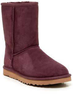UGG Australia Classic Short Genuine Shearling Lined Boot #ugg #marsala # burgundy #boots #fashion #shoes