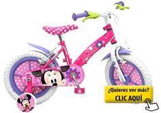 Minnie Mouse - Bicicleta con ruedines y cesta... #bicicleta