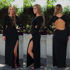 Side Slit Open Back Maxi Dress | UOIOnline.com: Women's Clothing Boutique