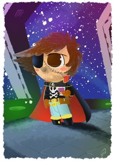 Capitan Harlock by D3iv.deviantart.com on @deviantART