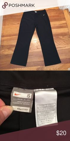 Nike cropped flare yoga pants Nike cropped flare yoga pants, size Small. Worn a couple times. Perfect condition. Perfect for yoga or lounging around the house. Nike Pants Leggings