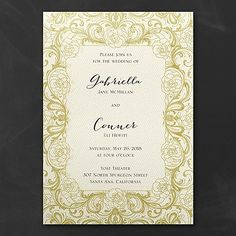 Glitz and Glam Wedding Invitation - Ecru 40% Off | WHITE & ERCU AVAILABLE | http://mediaplus.carlsoncraft.com/Wedding/Wedding-Invitations/3283-LL36019EC-Glitz-and-Glam--Invitation--Ecru.pro | LL36019EC Dreaming of a glamorous wedding? This ecru, glittery wedding invitation will introduce it perfectly. Choose the options that show your style.