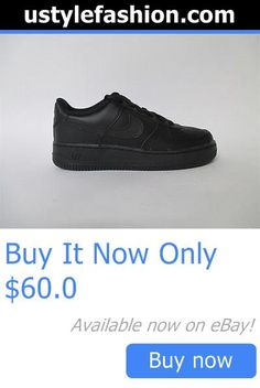 Children boys clothing shoes and accessories: Nike Air Force 1 Low All Black Gs Grade School Sz 6.5 314192-009 BUY IT NOW ONLY: $60.0 #ustylefashionChildrenboysclothingshoesandaccessories OR #ustylefashion
