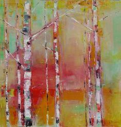 """Saatchi Art Artist Popei Ioan; Painting, """"Birches"""" #art Original Paintings, Original Art, Birches, Saatchi Art, The Originals, Abstract, Artist, Artwork, Summary"""