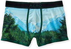 Aeropostale Mens Great Outdoors Knit Trunks Underwear Deep Camo - aeropostale…