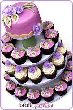 purple roses on white frosting.