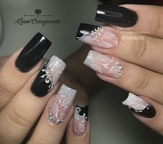 With such a wide variety of nail colors, it's tough to choose the one which would suit you. Elegant Nail Designs, Elegant Nails, Beautiful Nail Designs, Stylish Nails, Acrylic Nail Designs, Nail Art Designs, Acrylic Nails, Hot Nails, Hair And Nails