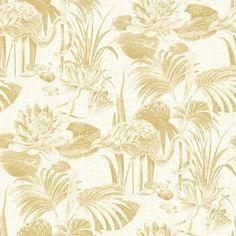 Mustard Wallpaper, Chic Wallpaper, Geometric Wallpaper, Wallpaper Samples, Wallpaper Roll, Time 7, En Stock, Water Lilies, Yellow Flowers