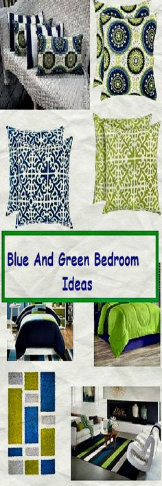 Blue and green bedrooms – Ideas and accessories to make a small bedroom look bigger