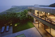 The Bluff House was completed by the New York based studio Robert Young Architect. This stunning property is situated on a bluff overlooking Block Island Sound, in Montauk, New York, USA.           ..