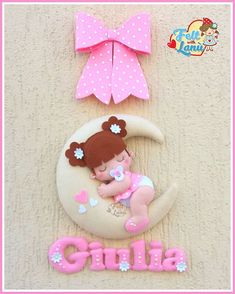 Felt with Lanù su Bebuù: Fiocco nascita : Baby Minnie con Farfallina – BuzzTMZ Felt Crafts Dolls, Felt Dolls, Diy Crafts Videos, Diy And Crafts, Moldes Para Baby Shower, Felt Doll Patterns, Baby Mobile, Baby Nursery Decor, Felt Art