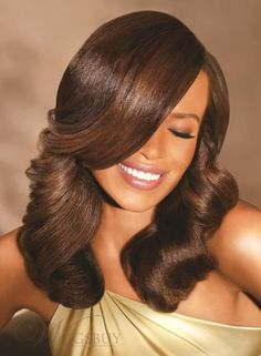 New Fashion Trendsetting African American  Black Hair Style Wig hairstyles medium |