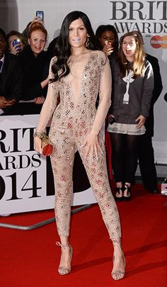 Jessie J causes a stir with Lilac Lipstick at the 2014 BRIT Awards