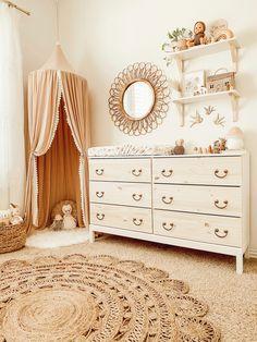 Baby Nursery Decor, Baby Bedroom, Baby Decor, Project Nursery, Nursery Ideas, Room Baby, Bohemian Nursery, Nursery Dresser, White Nursery