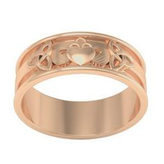 Gemjoli Rose Gold Claddagh Ring