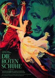German poster for The Red Shoes (Michael Powell and Emeric Pressburger, UK, 1948). | www.eklectica.in