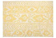 5'x8' Lucy Flat-Weave Rug, Soft Gold