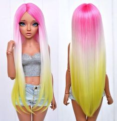 You are in the right place about bratz Doll Here we offer you the most beautiful pictures about the Doll american girl you are looking for. Custom Monster High Dolls, Custom Dolls, Barbie Hair, Doll Hair, Beautiful Barbie Dolls, Pretty Dolls, Doll Wigs, Ooak Dolls, Bratz Doll