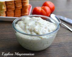 Eggless Mayonnaise Recipe | Homemade Low Fat, Gluten Free Mayonnaise | Tickling Palates