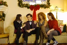 "Watch as Amy, River, and Clara try to convince the eleventh Doctor not to regenerate in this awesome Doctor Who ""Baby It's Cold Outside"" parody video.   View the post: http://ornge.me/1kRwvI8"