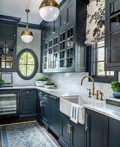 Would you ever feel bold enough to opt for a color on your kitchen cabinets rather than a neutral and if so what color would you choose Photo via atlantahomesmag Design mallorymathisoninc cbrandoningram Photography jeffherrphoto Home Decor Kitchen, Kitchen Interior, New Kitchen, Kitchen Ideas, Kitchen Inspiration, Kitchen Layout, Rustic Kitchen, Interior Modern, Narrow Kitchen