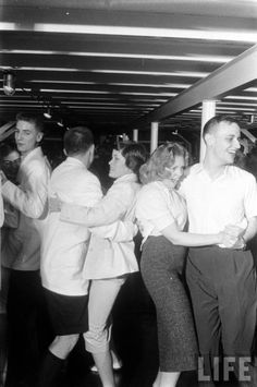 Students at a high school dance in the '50s.