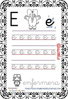 Cuaderno de trazos Imágenes Educativas Letras Escolar – Imagenes Educativas Free Kindergarten Worksheets, Letter Worksheets, Alphabet, Homeschool, Notebook, Bullet Journal, Letters, Math Equations, Writing