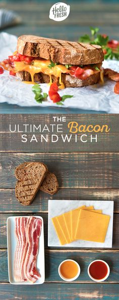You can't buy happiness, but you can buy bacon! Enjoy this easy, cheesy, and delicious bacon sandwich. Check out blog.hellofresh.com for more recipes and tips!