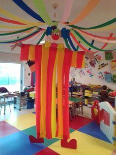 Decoración aula escolar el payaso del circo.