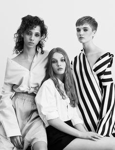 Living Sculptures: Yasmin Wijnaldum, Agnes Akerlund & Ruth Bell by Ben Toms for Vogue China march 2017