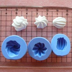 Whipped Cream Mold Frosting 3pcs 12-14mm Silicone Flexible Mold Miniature Sweets Cupcake Fimo Polymer Clay Decoden Kawaii Jewelry Resin Wax. $6.50, via Etsy.